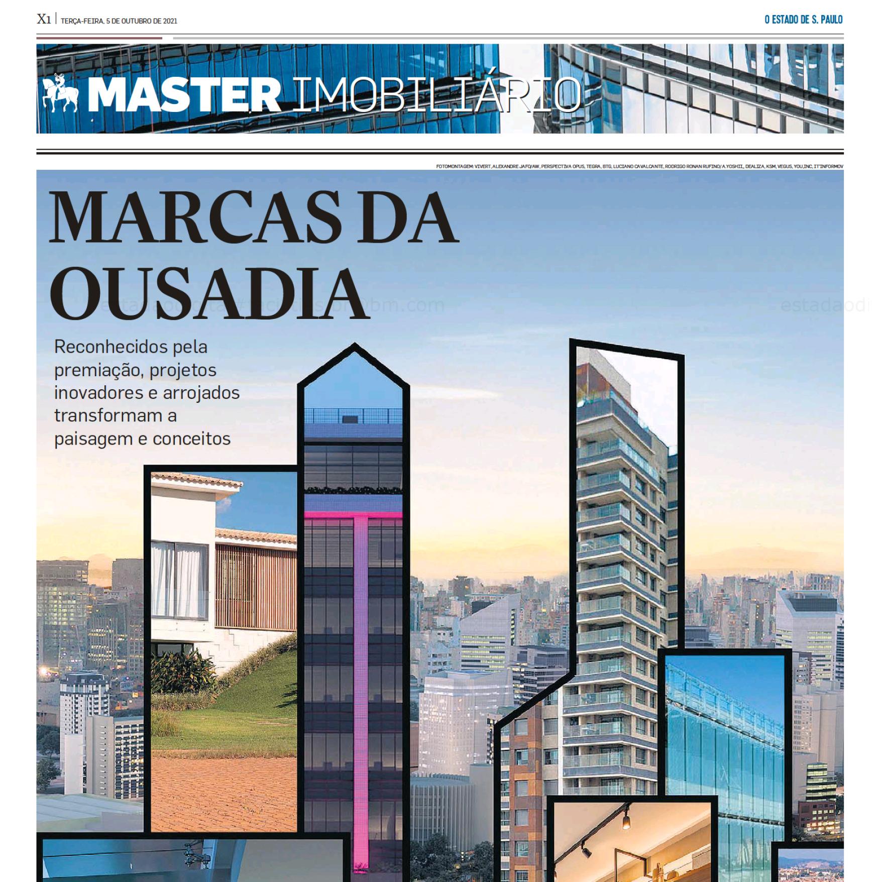 Grande parceiro do Master Imobiliário, o jornal Estadão publicou hoje o caderno especial da premiação.
